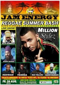 Flyer Reggae Summer Bash 16
